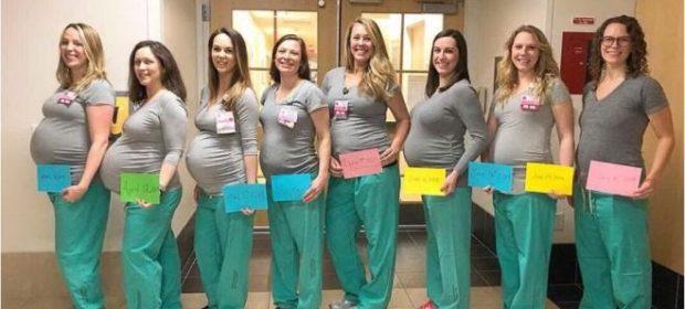 nove-infermiere-col-pancione-la-foto-dellospedale-diventa-virale